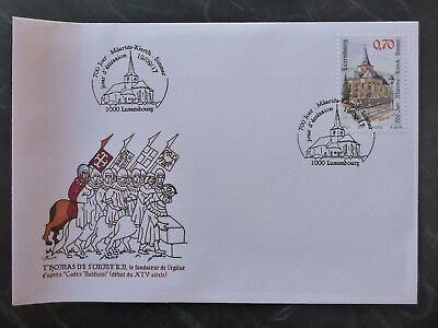 2017 LUXEMBOURG 700th SIMMERN CHURCH FDC FIRST DAY COVER