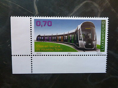 2017 Luxembourg Inauguration Of Tramway Set Of 2 Mint Stamps Mnh