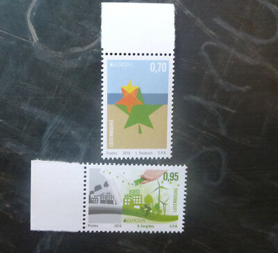2016 Luxembourg Think Green Set Of 2 Mint Stamp Mnh