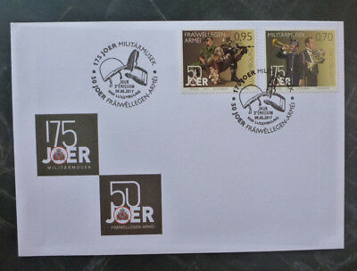 2017 Luxembourg Military Service Set 2 Stamps Fdc First Day Cover