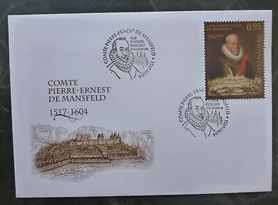 2017 Luxembourg Peter Von Mansfield Fdc First Day Cover