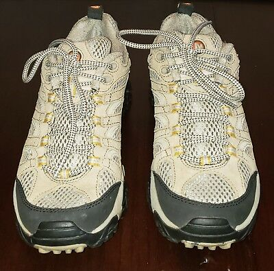 84dbfb85ac Women's MERRELL Continuum Taupe Trail Low Hiking Shoes VIBRAM J86612 Sz 7  Med