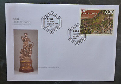 2017 Luxembourg Treaty Of London  Fdc First Day Cover