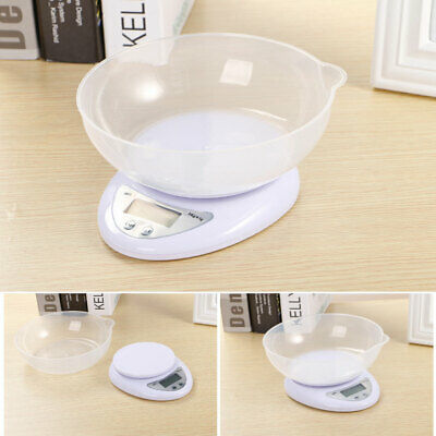 5kg 5000g/1g Digital Kitchen Food Scale Balance LED Electronic Weight Cooking