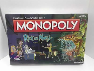 Monopoly Rick and Morty Edition Adult Swim TV Series USAopoly Board Game New