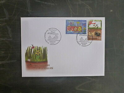 2014 Luxembourg Treasures Of Soil Set 2 Stamps Fdc First Day Cover