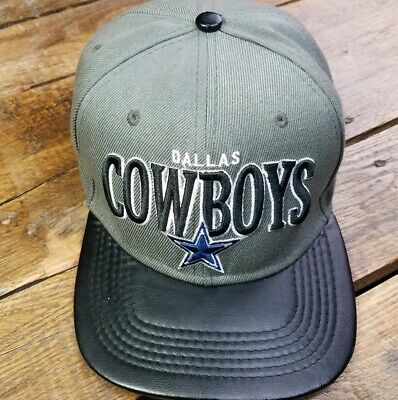 3342e490257 Dallas Cowboys Mitchell   Ness Vintage Collection Snapback Cap Hat Leather  Bill