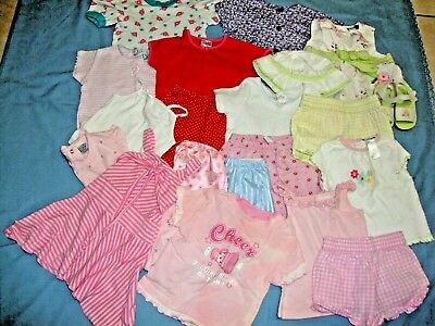 LOT of 21 PC's Baby Girls Size 24 Mo's 2t Mix & Match Spring & Summer Outfits