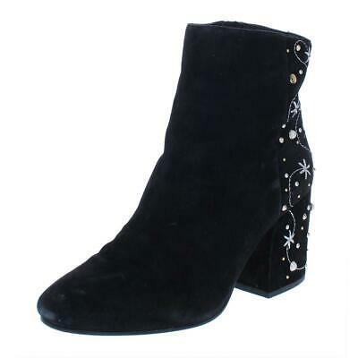 7a01cf4326d2a8 SAM EDELMAN TAFT black embroidered Pearl Stud Womens Bootie 8.5 M ...