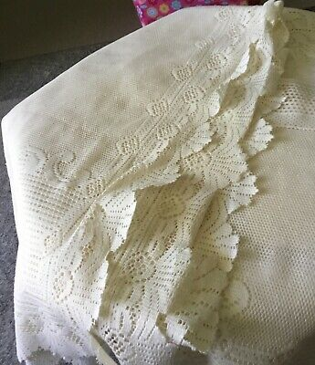 beautiful large old lace tablecloth