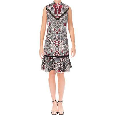 Laundry by Shelli Segal Womens Pink Sleeveless Printed Party Dress 12 BHFO 6373