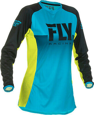 Fly Racing 2019 Women's Lite Racewear Jersey - Blue/Hi-Vis