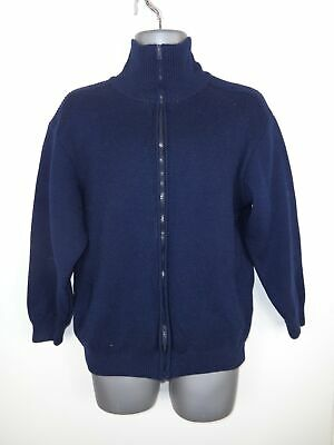 Pullover & Strick Mens Confexclero Roma Navy Blue Zip Up Warm Thick Winter Fleece Jumper L Large