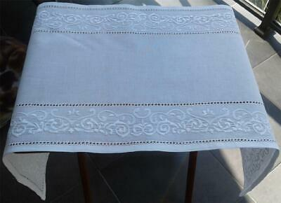 Authentic Vintage White Hand Embroidered/Applique TABLE RUNNER