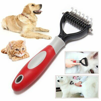 for Dog Pet Cat Hair Fur Shedding Pro Trimmer Grooming Rake Comb Brush Tool NEW
