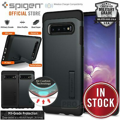 Galaxy S10e S10+ Plus Case, Genuine SPIGEN Slim Armor Hard Cover For Samsung