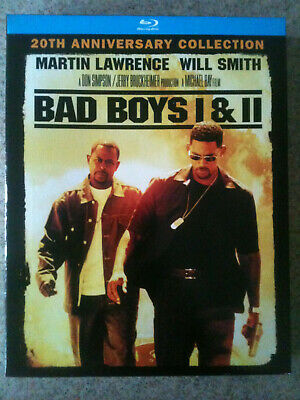 Bad Boys / Bad Boys II (Blu-ray Disc, 2015, 2-Disc Set) LIKE NEW, Remastered