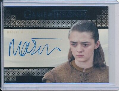 2017 Game Of Thrones Valyrian Steel Maisie Williams as Arya Stark Autograph