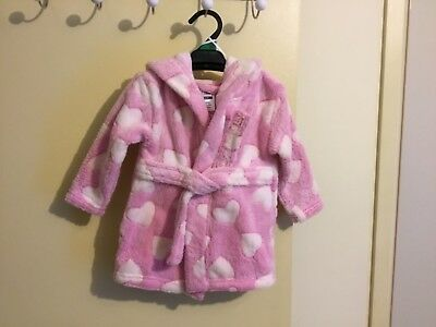 Girls Dressing Gown With Hoodie Size 000