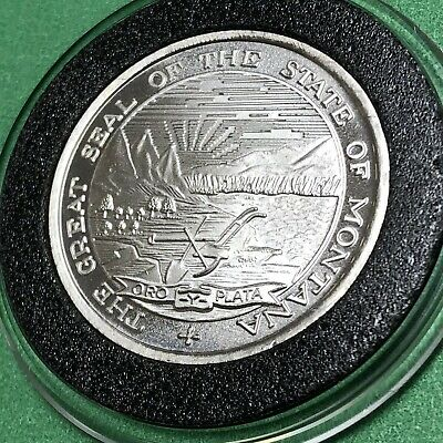 Montana Steamboat Bertrand 1/2 Troy Oz .999 Fine Silver Round Collectible Coin