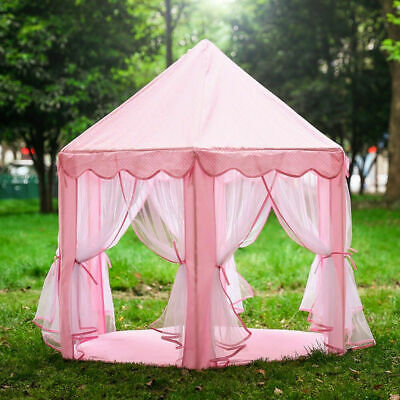Kids Pop Up Large Princess Castle Playing Tent Indoor Outdoor Playhouse Fun Toy