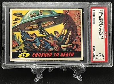 1962 Mars Attacks CRUSHED TO DEATH #20 EXCELLENT + 5.5 - Topps garno PSA