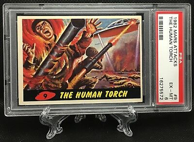 1962 Mars Attacks THE HUMAN TORCH #9 EXCELLENT-MINT 6 - Topps garno PSA