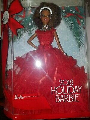 Barbie Holiday 2018 Black Nikki AA Signature Doll Red Dress 30th Anniversary New