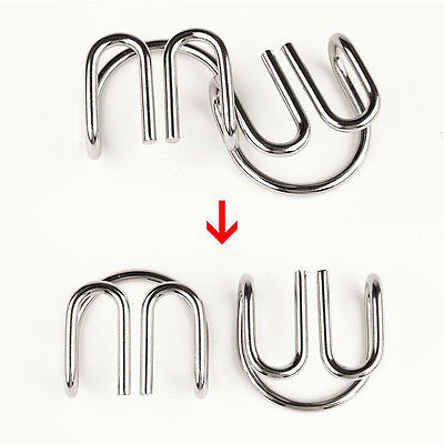 8Sets Kids Adults Metal Wire Puzzle IQ Mind Brain Teaser Puzzles Game Toys Gift