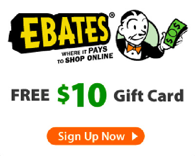 Free $10 Cash Gift Card with EBATES - 100% Guaranteed - No Purchase is Required