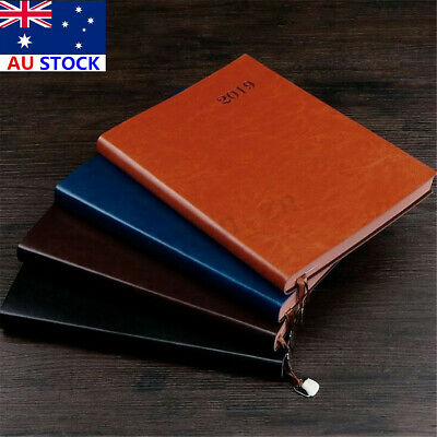 AU 2019 Planner Monthly Weekly Schedule Diary Work Organizer A5 Notebook Gift