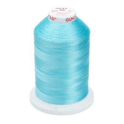 1094 Medium Turquoise Gunold Sulky Rayon Embroidery Machine Thread 1000m Cones