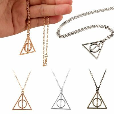 Triangle Time Turner Pendant Hourglass Harry Potter Necklace Deathly Hallows