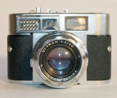 Voigtlander Vitomatic II 35mm rangefinder w/ Ultron 50mm f2, Prontor SLK-V AS-IS