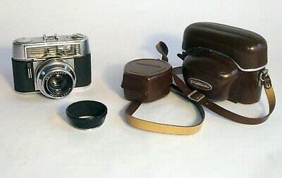 Voigtlander Vitomatic IIIB 35mm rangefinder w/ Ultron 50mm f2, w/ hood & case