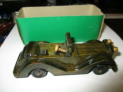 New in The Box Hand Carved Wood Car By Peoples Republic Of China
