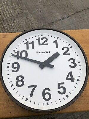 Vintage Huge Panasonic Railway Industrial Station Wall Clock Factory Retro