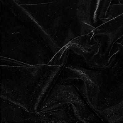 BLACK Luxurious Triple Velvet Dress Fabric Material 112cms wide sold by the metr