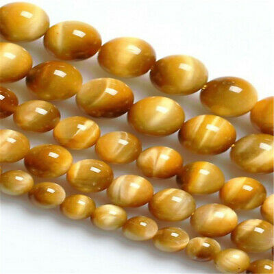 Golden Tiger Eye Stone loose beads 6mm 8mm 10mm Natural  Spacer ELEMENTS