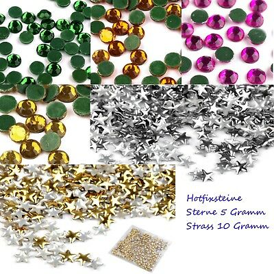Hotfix Steine Sterne gold silber turmaline chrysolith 2,8 5.2 mm chatons 5-10gr.