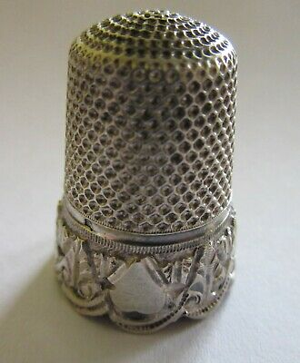 Antique French Sterling Silver Thimble