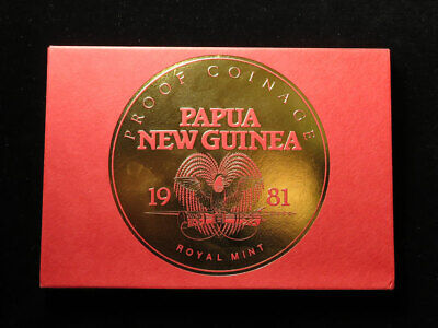 Royal Mint Proof Set : Proof Coinage of Papua New Guinea 1981