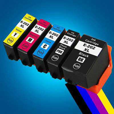 Epson COMPATIBLE NON-OEM 202XL XP-6000 XP-6001 XP-6005 Set of 5 Ink Cartridges