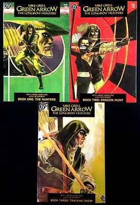 Green Arrow Long Bow Hunters #1, #2, #3 Complete Set Of 3 Mike Grell 1987 Dc