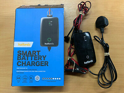 Halfords Car Battery Smart Charger For 12V Vehicles Up To 2.0L Start Stop (T125)