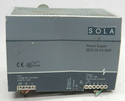 SOLA SDN 20-24-100P POWER SUPPLY, 12/6 A, 230 V-For Parts or Repair