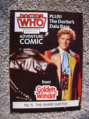 Doctor Who Golden Wonder Promotion Mini-Comic MARVEL: No 5: The Shape Shifter