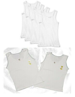 Girls Boys Kids Children vests White Vest Cotton Summer Tank Top School Wear
