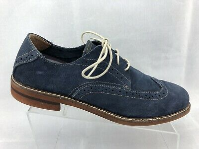 c425bc227668 Florsheim Men s Blue Leather Suede Wingtip Dress Shoes Lace Up Oxfords Size  9M