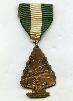 Vintage SHAWNEE TRAIL MEDAL Arrowhead Boy Scout Pin BSA OA Badge Award OHIO
